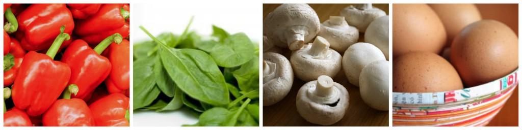 Mushroom and Red Pepper Breakfast Scramble-Ingredients