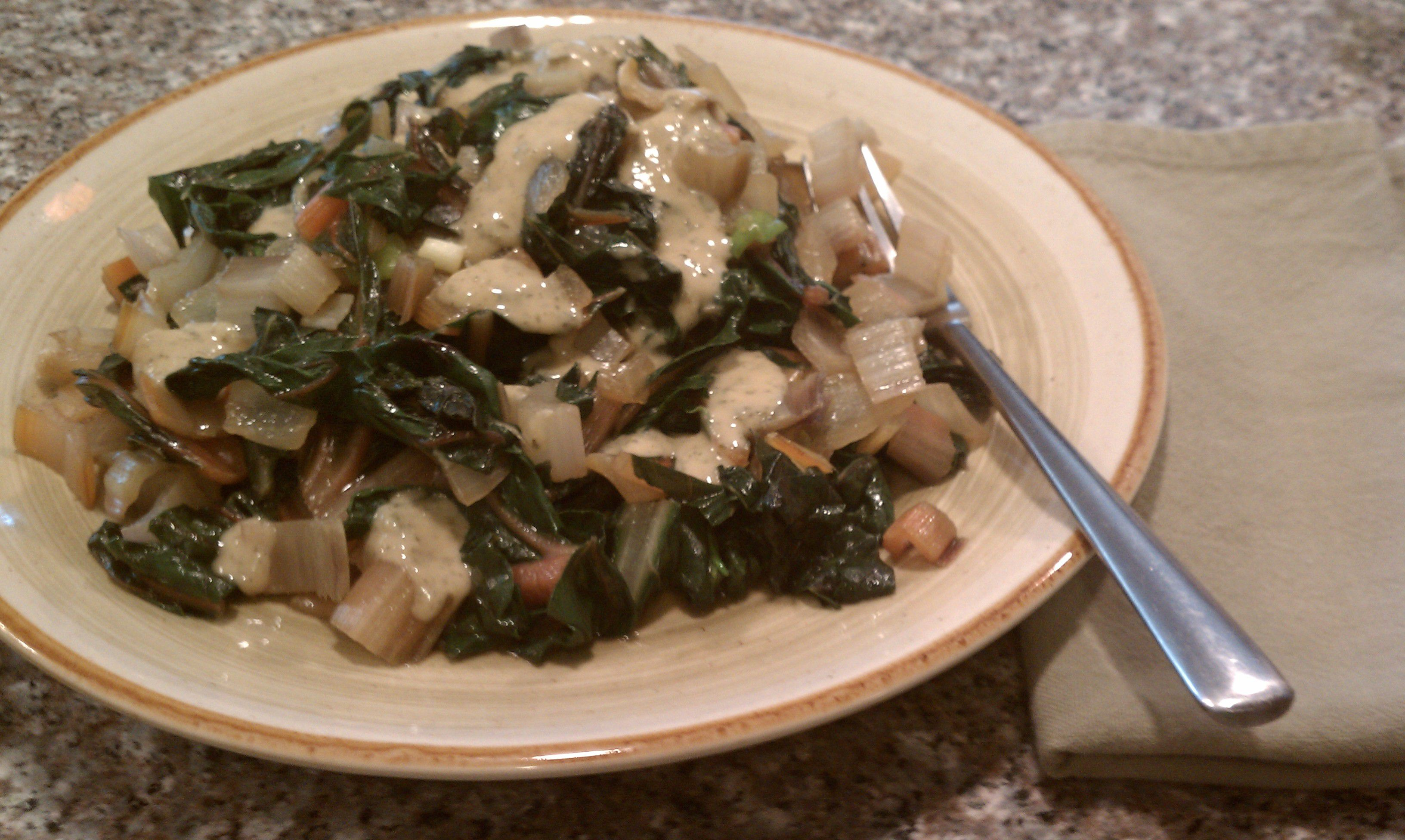 Sauteed Swiss Chard with Toasted Walnuts