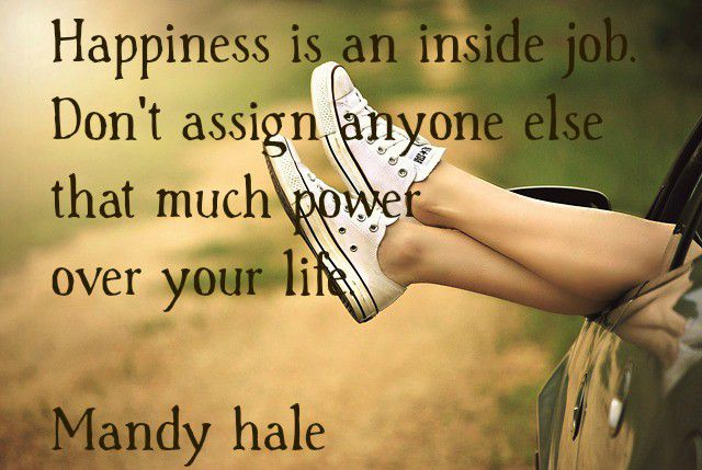 Happiness is an Inside Job-Give up Blame