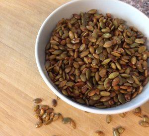 Coconut Amino Roasted Pepitas-Recipe