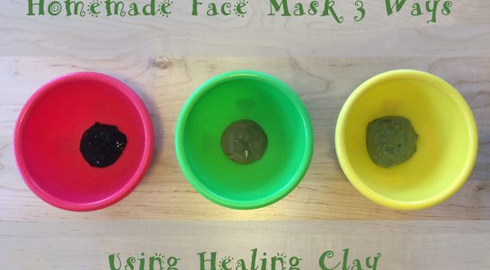 Homemade Face Mask Recipe 3 Ways (Using Healing Clay)