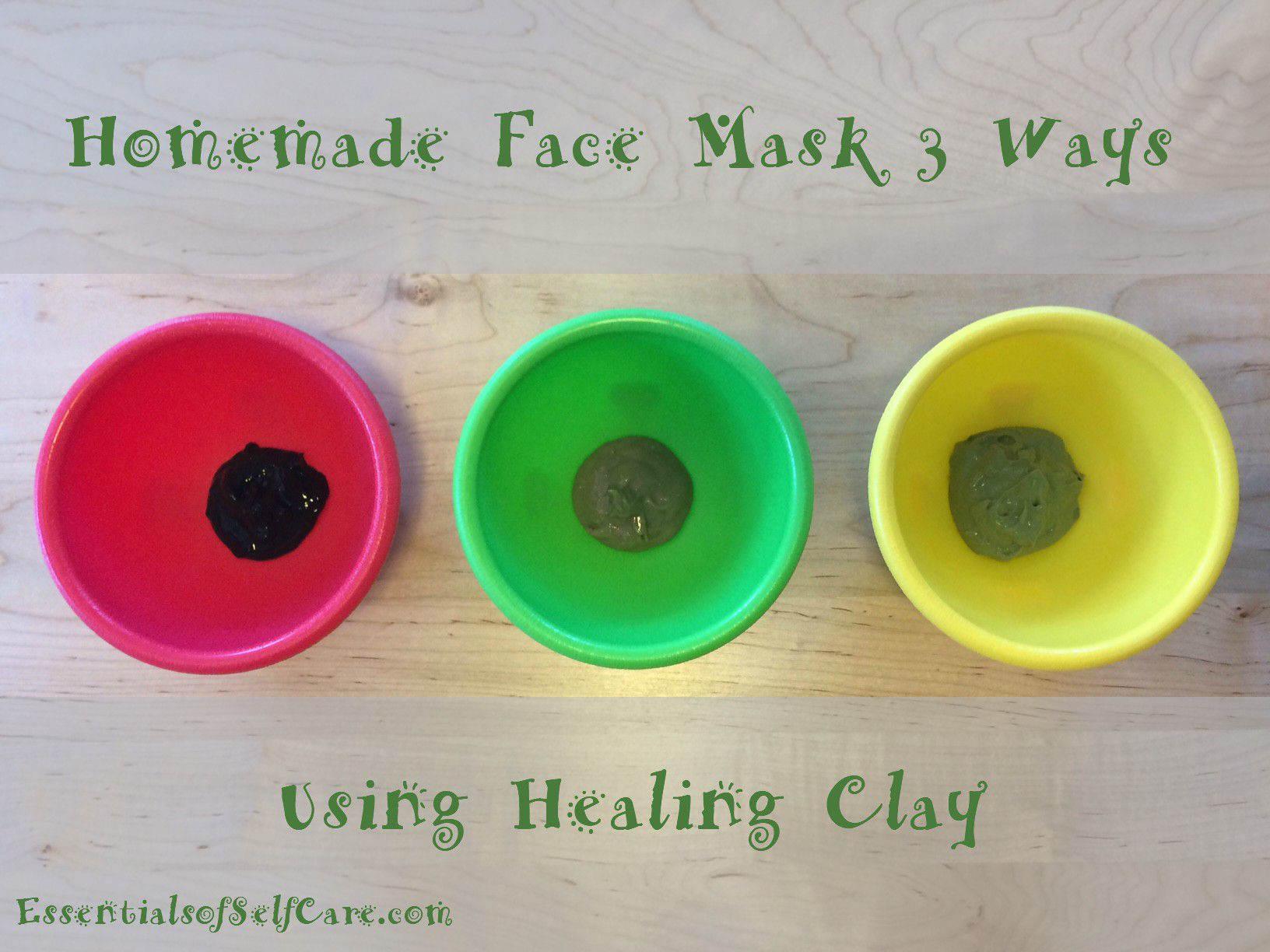 Homemade Face Mask Recipe 3 Ways (Using Healing Clay)